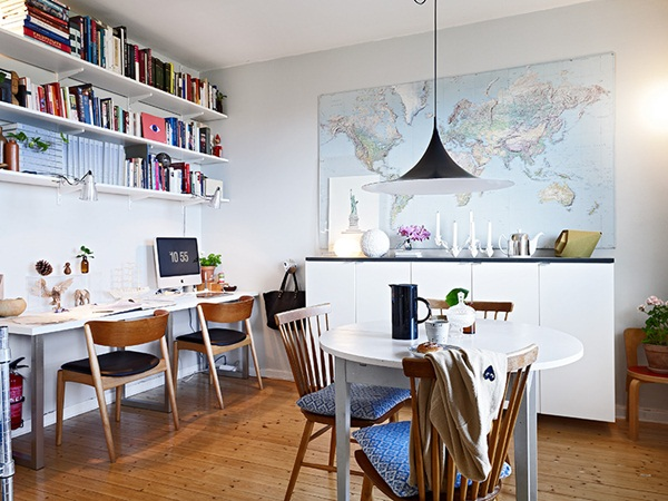 Home office para casal mel no mundo for Como e dining room em portugues